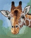La broderie girafe en vert de Vervaco