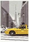 Broderie au point de croix point compté le taxi new yorkais - DMC