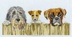 Point de croix compté des chiens curieux de DMC