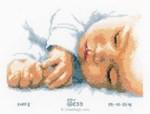 Broderie naissance bébé endormi de Vervaco