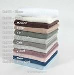 Serviette de bain DMC coloris 072 bleu - 500gr-m2 à broder