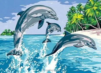 Canevas les jeux marins des dauphins de seg 929 321 - Jeux de coloriage de dauphin ...