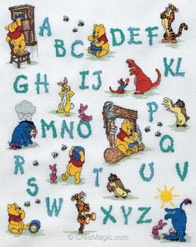 Ab c daire winnie disney travaille de royal paris 6443 0004 - Grille point de croix alphabet disney ...