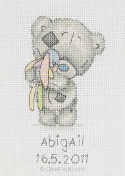 Me to you kit point de croix b b petit ours - Tableau de naissance point de croix gratuit ...