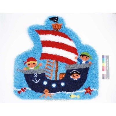 Tapis point noue le bateau des petits pirates - Vervaco