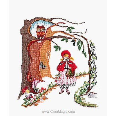 Little red riding-hood sur aida broderie de Thea Gouverneur au point de croix