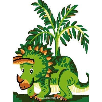 Kit canevas enfant le petit bébé dinosaure - Luc Création