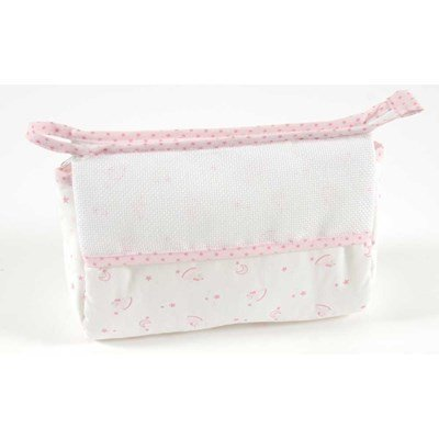 Trousse de toilette pour enfant à broder baby star - rose DMC