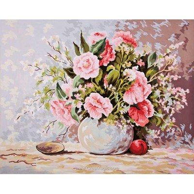Bouquet en pastel canevas - Collection d'art