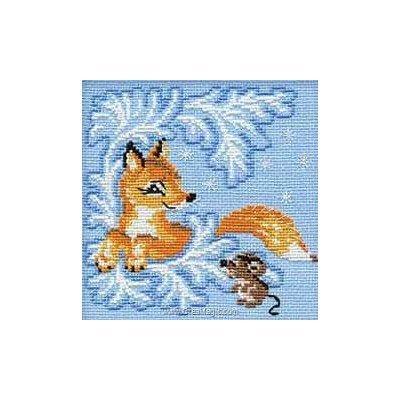 Le renard et la souris modèle point de croix - RIOLIS