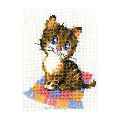 Broderie mini kit chaton sur le plaid - RIOLIS