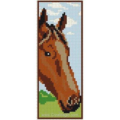 Marque-page museau de cheval à broder Luc Création