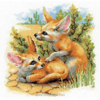 Kit RIOLIS à broder les renards du désert