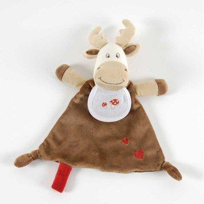 Doudou bébé à broder caribou + coffret cadeau DMC