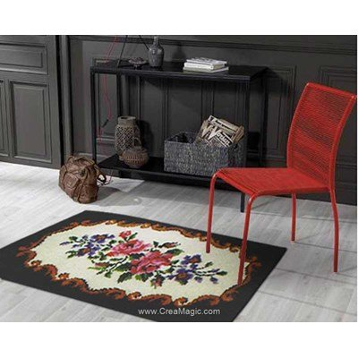 Kit tapis point noue mary poppins floral - Smyrnalaine