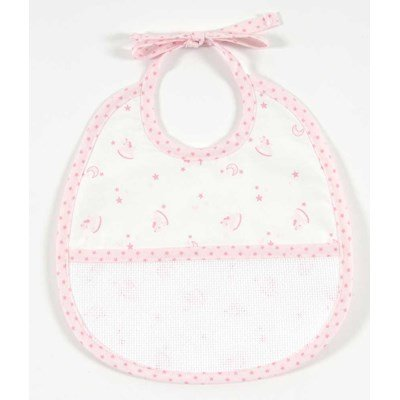 Bavoir bébé à broder baby star 3 mois- rose DMC