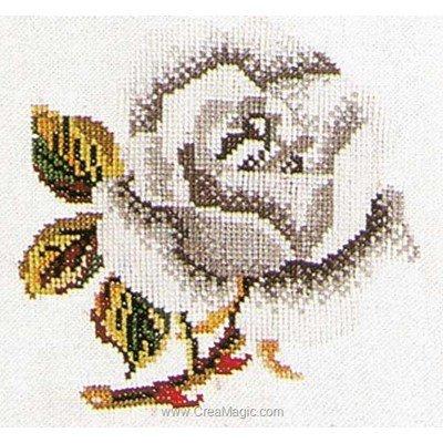 Kit Thea Gouverneur à broder au point de croix rose white sur lin