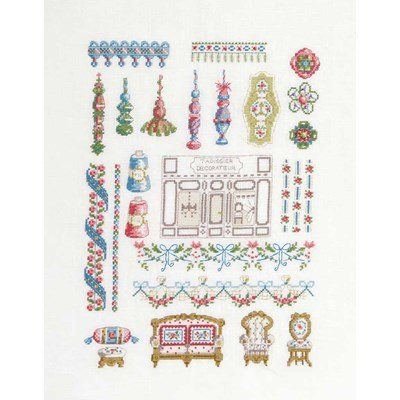 Kit broderie point compté le tapissier décorateur - DMC