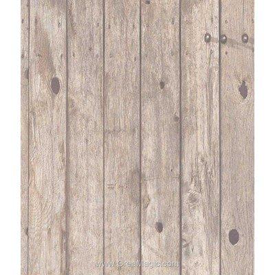 Toile aida 7.1 pts imprimée planches marrons - Brod'star