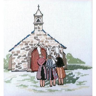 Modèle broderie point de croix la chapelle bretonne - Philomene