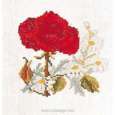 Kit point de croix Thea Gouverneur rose-daisies sur aida