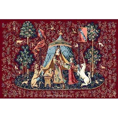 Tableau broderie point de croix a mon seul désir la dame à la licorne de Marie Coeur
