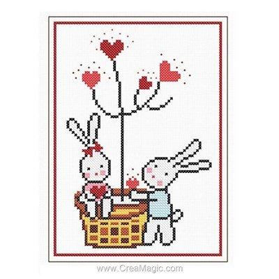 Kit à broder Princesse arbre aux coeurs