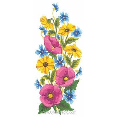 Canevas champs de fleurs de Collection d'art