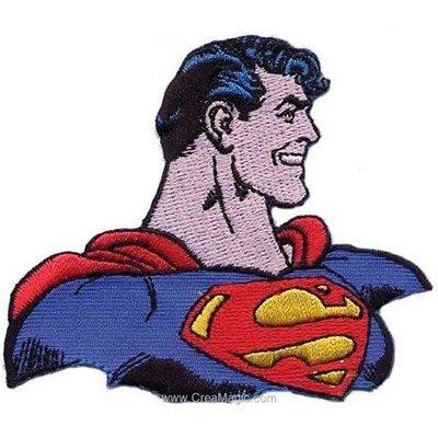 Ecusson motif thermocollant superman de profil de MLWD