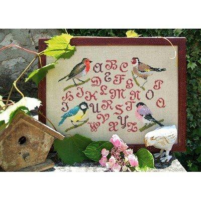 Kit à broder au point de croix les oiseaux de gaspard d'Au Fil De L'Ange