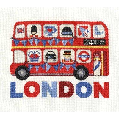 Kit au point de croix compté DMC bus londonien