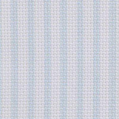 Toile aida 5.5 pts imprimée bleu rayures vierge à broder - DMC