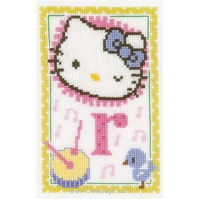 Broderie en point croix hello kitty lettre r - Vervaco