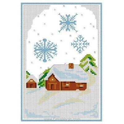 La neige mini kit à broder - Luc Création