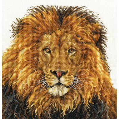 Kit tableau point de croix la fierté du lion de DMC