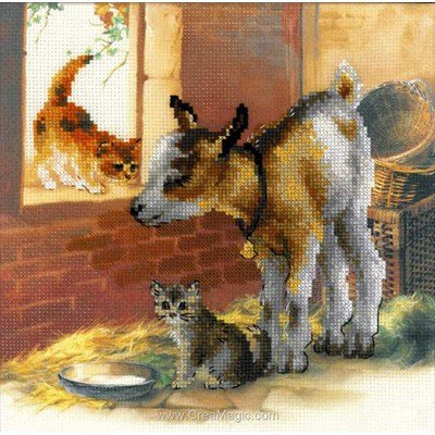 Kit broderie RIOLIS chèvre et chatons