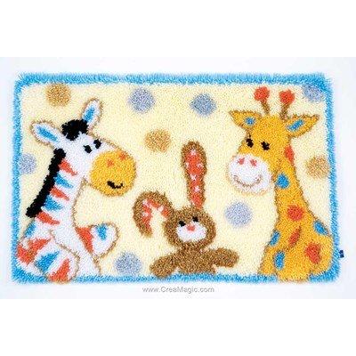 Kit tapis point noue nos amis les animaux de Vervaco