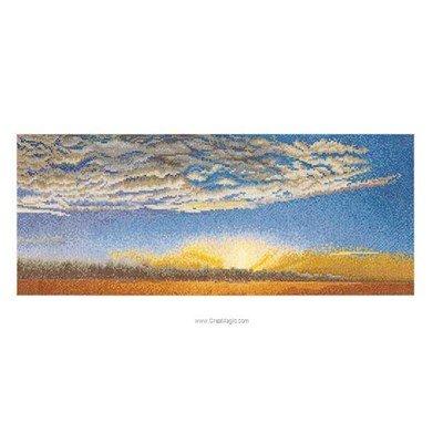 Modèle broderie point de croix Thea Gouverneur le ciel et les nuages sur aida