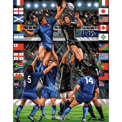 Mélée de rugby canevas chez Rafael Angelot