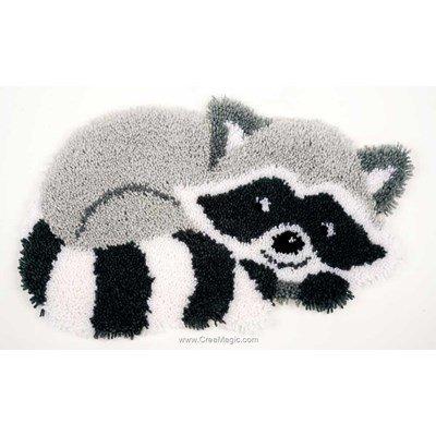 Kit tapis point noue le raton laveur malin - Vervaco
