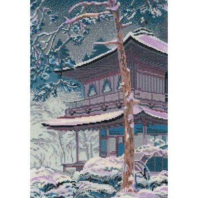 Le point de croix la pagode de RIOLIS