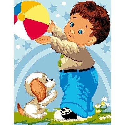 Attrapes le ballon canevas de Luc Création