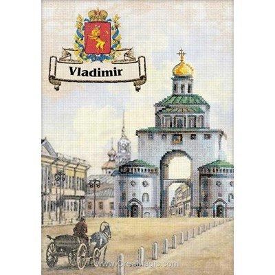 Kit tableau RIOLIS point de croix cities of russia. Vladimir