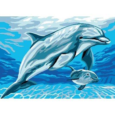 Luc Création canevas flipper et son bébé