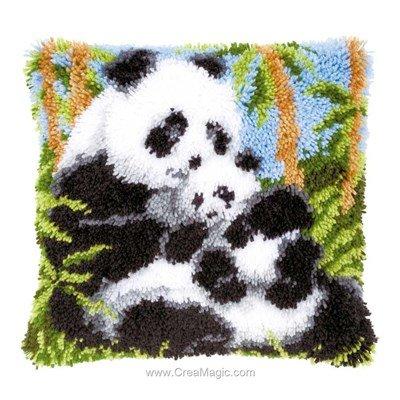 Kit coussin point noue Vervaco amour de pandas