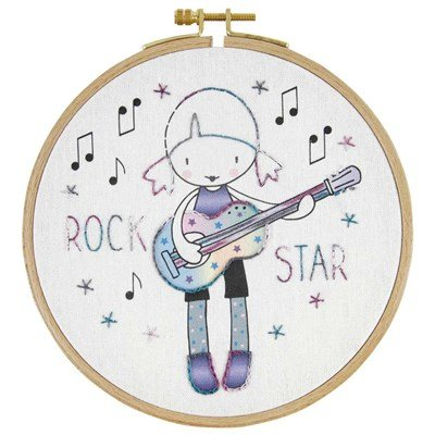 Broderie traditionnelle en kit rock star - DMC