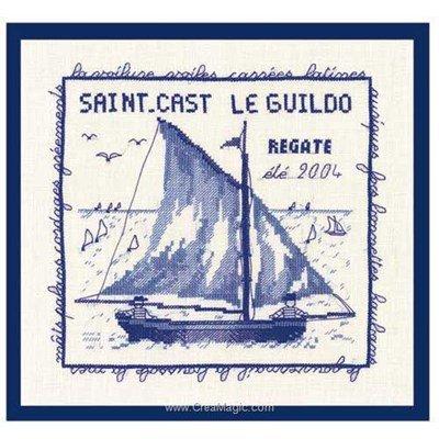 Le point de croix mer - saint cast 2004 le guildo de Le Bonheur Des Dames