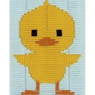 Canevas point lance petit oiseau jaune de Vervaco