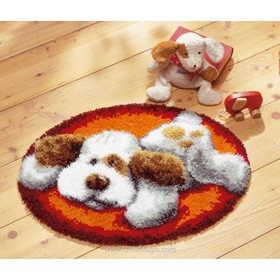 Tapis point noue Vervaco chien
