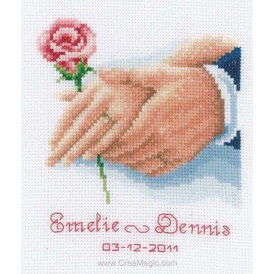 D305 Broderie au point de croix Motif amour maternel 14 carats